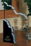 Mountain Peak Black and Clear Acrylic Award Achievement Awards