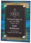Painted Acrylic Stand-Off Plaque Award Acrylic Plaques