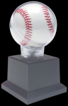 Allstar Baseball Holder on Black Plastic Pedistal Base Baseball Trophy Awards