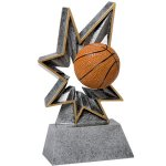 Basketball Bobble Resin Basketball Trophy Awards