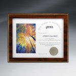 Hidden Slot Slide-In Overlay Plaque Certificate Plaques