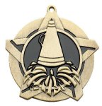 Cheerleading Super Star Medal  Gold Cheerleading Trophy Awards