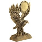 Eagle W/ 2 Ins Holder Resin Eagle Trophy Awards