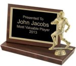 Standing Plaque, 4 1/4 Football Trophy Awards
