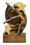 Gymnastics Star Swirl Award Gymnastics Trophy Awards