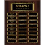 Walnut Finish 24-Plate Magnetic Scroll Border Plaque Medium Perpetual Plaques