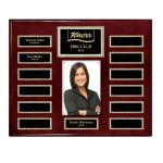 Rosewood Piano 13-Plate Magnetic Pearl Border Photo Plaque Monthly Perpetual Plaques