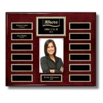 Rosewood Piano Finish 13-Plate Pearl Border Photo Plaque Monthly Perpetual Plaques