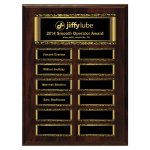 Walnut Finish 12-Plate Magnetic Scroll Border Plaque Monthly Perpetual Plaques