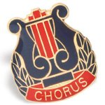 Chorus Lapel Pin Music Trophy Awards