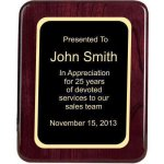 Piano Finish, Round, Red Piano Finish Plaques