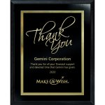 Simplicity Plate on Ebony Board Recognition Plaques