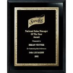 Florentine Gold Edge Plate on Ebony Board Sales Awards