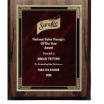 Walnut Finish Plaque with Marble Mist Sales Awards