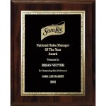 Florentine Gold Edge Plate on Walnut Board Sales Awards