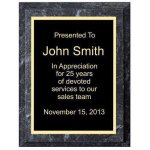 Improved Black Marble Plaque Sales Awards