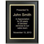 Matte Black Recognition Plaque Sales Awards