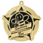 Spelling Bee Super Star Medal Scholastic Trophy Awards