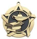 Knowledge Super Star Medal  Gold Scholastic Trophy Awards