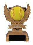 Softball Victory Wing Resin Figure - Copy Scholastic Trophy Awards