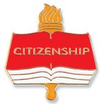 Citizenship Lapel Pin Scholastic Trophy Awards