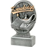 Pinwheel Script Lamp Of Knowledge Resin Scholastic Trophy Awards