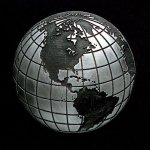 Globe Pewter Accent Stone Glass Awards