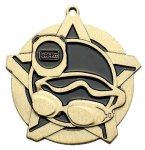 Swim Super Star Medal  Gold Swimming Trophy Awards