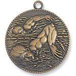 Male Swim Medal Bronze Swimming Trophy Awards
