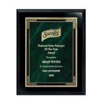 Ebony Finish Plaque with Marble Mist Walnut Plaques